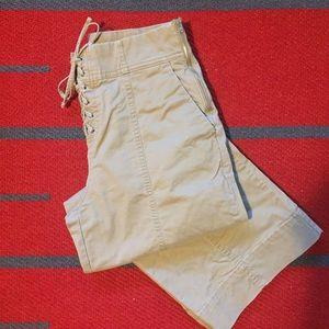 GAP High Waisted Wide Leg Crop Pants